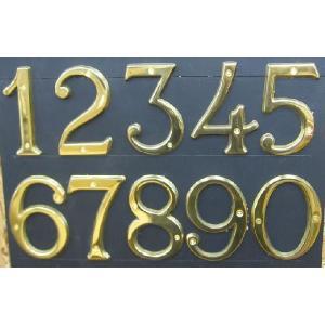 真鍮文字 ブラスナンバー 10cm 数字  送料別 通常配送|handsman