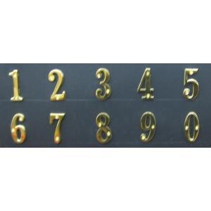 真鍮文字 ブラスナンバー 5cm 数字  送料別 通常配送|handsman