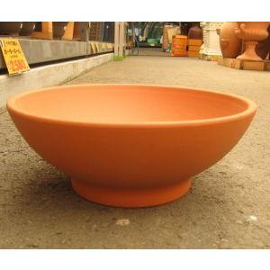 テラコッタ鉢 DEROMA(デローマ社) ローボール 19 直径:約46cm 高さ:約19cm (1035606) 【送料別】【通常配送】 handsman