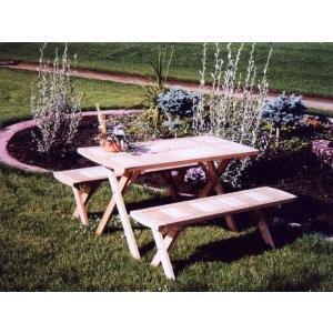 輸入 SCW クラシックピクニックセット テーブル高さ:69.5cm ベンチ高さ:41.2cm (141305) 【送料別】【大型・割れ物】|handsman