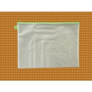 ファスナーケース / メッシュケース B4ゆったりサイズ 約41cm×30cm グリーン B4サイズ 1666134 送料別 通常配送 / ポーチ ケース|handsman