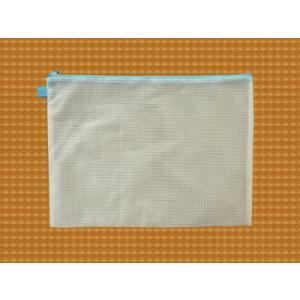 ファスナーケース / メッシュケース B4ゆったりサイズ 約41cm×30cm ブルー B4サイズ 1666142 送料別 通常配送 / ポーチ ケース|handsman