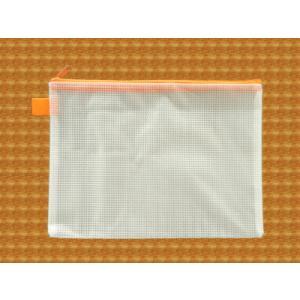 メッシュケース A5ゆったりサイズ (約)26cm×19cm オレンジ  A5サイズ (1666266) 【送料別】【通常配送】|handsman