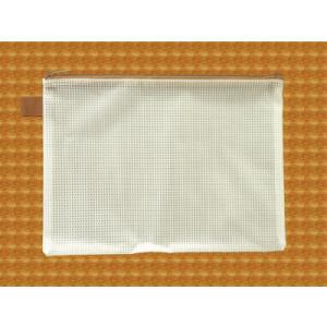 メッシュケース A5ゆったりサイズ (約)26cm×19cm ブラウン  A5サイズ (1666274) 【送料別】【通常配送】|handsman