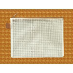 メッシュケース B6ゆったりサイズ (約)21cm×16cm ブラウン  B6サイズ (1666320) 【送料別】【通常配送】|handsman