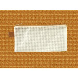 メッシュケース ペンケースサイズ (約)20cm×10cm ブラウン  筆箱 (1666371) 【送料別】【通常配送】|handsman