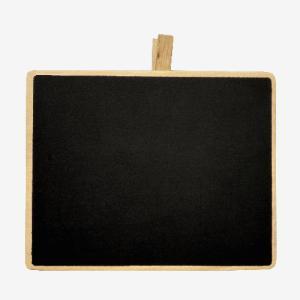 クリップ付きミニ黒板 大 (約)12cm×15cm (1680587) 【送料別】【通常配送】|handsman