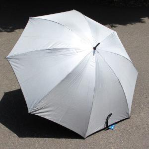 晴雨兼用ゴルフ傘 シルバー UVカット率:95%以上 親骨の長さ:77cm (行楽) (2926644)  送料別 通常配送|handsman