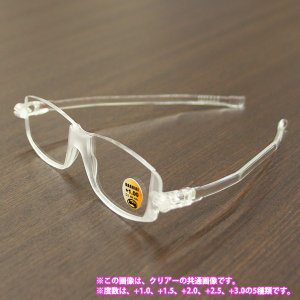 老眼鏡 シニアグラス ナンニーニ コンパクトグラス2 クリア +1.5 (2953579) 取寄せ商品 送料別 通常配送|handsman