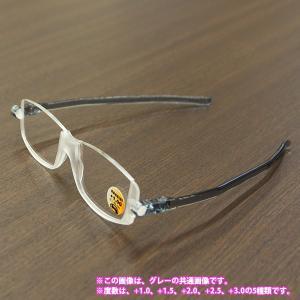 老眼鏡 シニアグラス ナンニーニ コンパクトグラス2 グレー +3.0 (2953650) 取寄せ商品 送料別 通常配送|handsman
