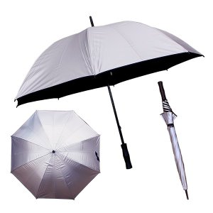 晴雨兼用 シルバー傘 65cm 42-9500 耐風構造骨 男女兼用 (2956012)取寄せ商品 送料別 通常配送|handsman