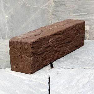リアル!軽量コンクリート製 枕木 「ガーデン」 フラット ブラウン (3221814) 【送料別】【通常配送】 handsman