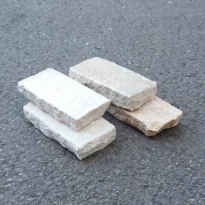 天然石 レンガタイプ 敷石 MINT 約20cm×10cm 厚さ:約4cm 重さ:約2kg 3225909 送料別 通常配送 handsman