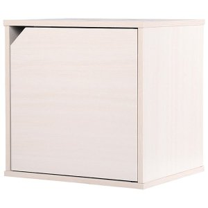 カラーボックス 扉タイプ 収納ボックス ウッドボックス / オフホワイト 木箱 木製 ボックス 収納箱 3875334 取寄せ商品 送料別 通常配送|handsman