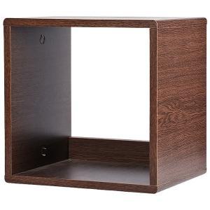 カラーボックス オープンタイプ 収納ボックス ウッドボックス / ブラウンオーク 木箱 木製 ボックス 収納箱 3892115 取寄せ商品 送料別 通常配送|handsman