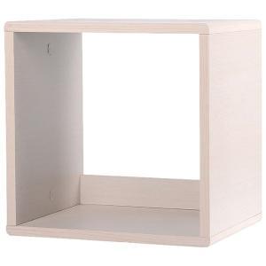 カラーボックス オープンタイプ 収納ボックス ウッドボックス / ホワイト 木箱 木製 ボックス 収納箱 3892123 取寄せ商品 送料別 通常配送|handsman