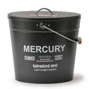 マーキュリー MERCURY ブリキバケツオーバル蓋付き マットブラック MEBUBOMB (3894371)【取寄せ商品】【送料別】【通常配送】|handsman