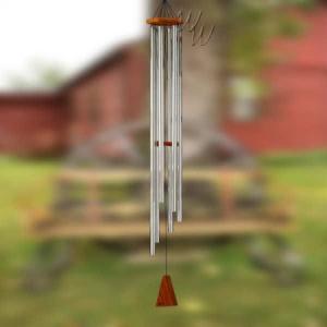 ウィンドチャイム(風鈴 チャイム) シルバー 約142cm (4015088) 【送料別】【通常配送】|handsman