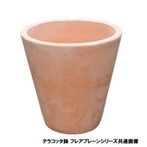 植木鉢 テラコッタ鉢 素焼き鉢 フレアープレーン鉢 VT55-21 21×H21 2.8kg (4058208)  送料別 通常配送|handsman