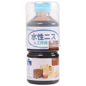 塗装 塗料 木材 / 水性ニス チーク 300ml 407593 取寄せ商品 送料別 通常配送|handsman