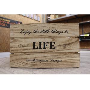 箱 収納ボックス アンティークボックス / ウッドボックス ナチュラル WD3824-NA 38cm×26cm×24cm 木箱 木製 ボックス 4804120 取寄せ商品 送料別 通常配送|handsman
