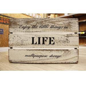 箱 収納ボックス アンティークボックス / ウッドボックス ホワイト WD3824-WH 38cm×26cm×24cm 木箱 木製 ボックス 収納箱 4804139 取寄せ商品 送料別 通常配送|handsman