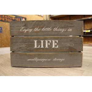 箱 収納ボックス アンティークボックス / ウッドボックス グレー WD3824-GY 38cm×26cm×24cm 木箱 木製 ボックス 収納箱 4804147 取寄せ商品 送料別 通常配送|handsman