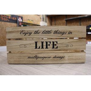 箱 収納ボックス アンティークボックス / ウッドボックス ナチュラル WD4320-NA 43cm×30cm×20cm 木箱 木製 ボックス 4804155 取寄せ商品 送料別 通常配送|handsman