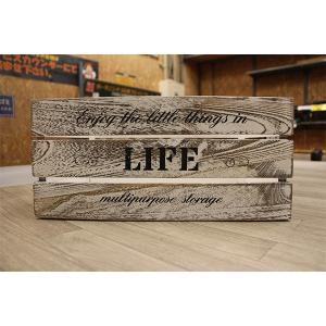箱 収納ボックス アンティークボックス / ウッドボックス ホワイト WD4320-WH 43cm×30cm×20cm 木箱 木製 ボックス 収納箱 4804163 取寄せ商品 送料別 通常配送|handsman