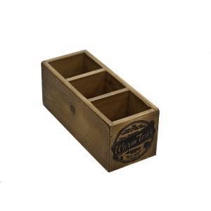 木箱 ウッドボックス / DULTON 3パーテーション ウッデン ボックス CH11-H415NT 4808940 取寄せ商品 送料別 通常配送 / アンティークボックス 木製 箱 収納 小物|handsman
