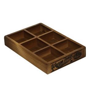 木箱 ウッドボックス / DULTON 6パーテーション ウッデン ボックス CH11-H417NT 4808967 取寄せ商品 送料別 通常配送 / アンティークボックス 木製 箱 収納 小物|handsman