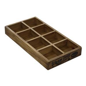 木箱 ウッドボックス / DULTON 8パーテーション ウッデン ボックス CH11-H418NT 4808975 取寄せ商品 送料別 通常配送 / アンティークボックス 木製 箱 収納 小物|handsman