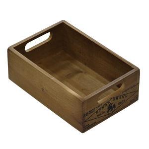 木箱 ウッドボックス / DULTON ウッデン ストッカー ボックス CH14-H500NT 4808983 取寄せ商品 送料別 通常配送 / アンティークボックス 木製 箱 収納 小物|handsman
