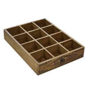 木箱 収納ボックス 小物 / DULTON 12パーテーション ウッデン ボックス CH14-H520NT 4809025 取寄せ商品 送料別 通常配送 / ウッドボックス 木製|handsman