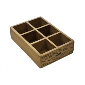 木箱 収納ボックス 小物 / DULTON 6パーテーション ウッデン ボックス CH14-H521NT 4809033 取寄せ商品 送料別 通常配送 / ウッドボックス 木製|handsman