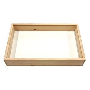 木製標本箱 大 ベースのみ 46×32×高さ6.5cm (登録名:オリジナル標本箱) (5169747)  送料別 通常配送|handsman