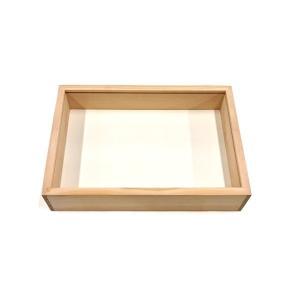 木製標本箱 小 ベースのみ 31×22×高さ6.5cm (登録名:オリジナル標本箱) (5169755)  送料別 通常配送|handsman