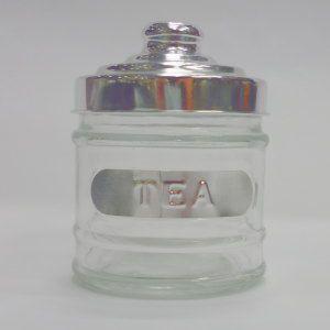 ガラス キャニスター TEA 11 高さ:約11cm (5754917)  送料別 通常配送|handsman