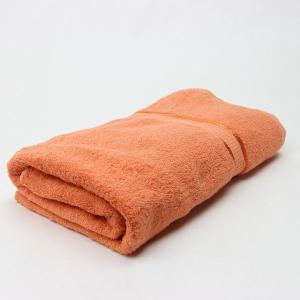 ワイドバスタオル オレンジ サイズ90cm×160cm 綿100% (5845041)  送料別 通常配送 handsman