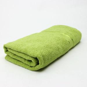 ワイドバスタオル Fグリーン サイズ90cm×160cm 綿100% (5845092)  送料別 通常配送 handsman