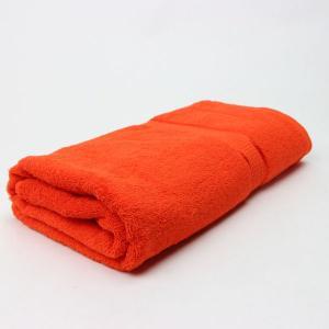 ワイドバスタオル SKオレンジ サイズ90cm×160cm 綿100% (5845297)  送料別 通常配送 handsman