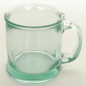 ガラスマグカップ ガラスコップ マグ コップ / エコガラスマグ 約350cc 無地 3100 5850185 送料別 通常配送 / リサイクルガラス ガラス|handsman