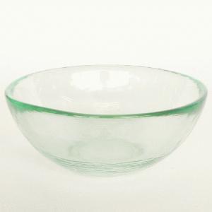 ガラスボウル サラダボウル ガラス ボウル 皿 / エコガラスボウル 丸 小 7029LUZ 直径約14cm 5850231 送料別 通常配送 / リサイクルガラス 透明|handsman