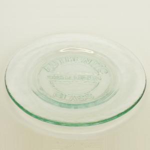 ガラス プレート ガラスプレート 皿 / エコガラスプレート 丸 小 7474 直径約20cm 5850312 送料別 通常配送 / リサイクルガラス 透明|handsman