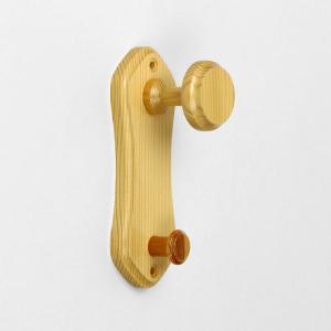 木製壁用フック ビス止め式 S121/HZ6 奥行:約63mm (5901405) 【送料別】【通常配送】|handsman