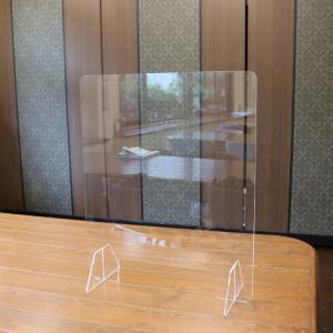 アクリルパーテーション 窓付 幅50cm×高さ60cm 厚み3mm|handsman