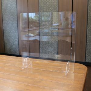 アクリルパーテーション 窓付 幅60cm×高さ60cm 厚み3mm handsman