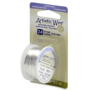 Artistic Wire アーティスティックワイヤー ターニッシュレジスタントシルバー #24(太さ0.5mm) 9.1m巻 24S-10-10YD (6174086) 通常配送|handsman