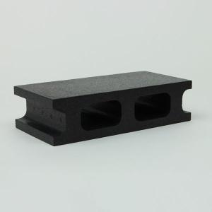 スチロールブロック レンガ / 発泡スチロール ブロック K-ブロック 小 ブラック サイズ:260×127×67mm 【mono】 6195490 送料別 通常配送 / レンガブロック|handsman