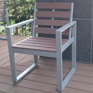 旭興進 人工木ガーデンチェア AKJC-6060 (6251234) 【取寄せ商品】【送料別】【通常配送】|handsman